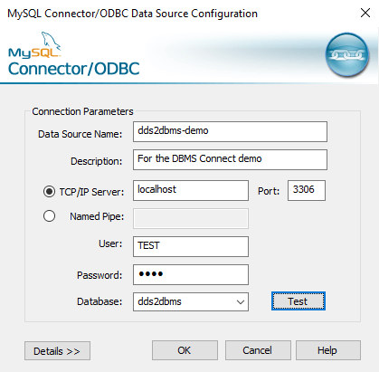 Adding a new ODBC connector on Windows
