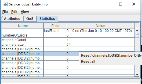 resetting statistics information using the tuner